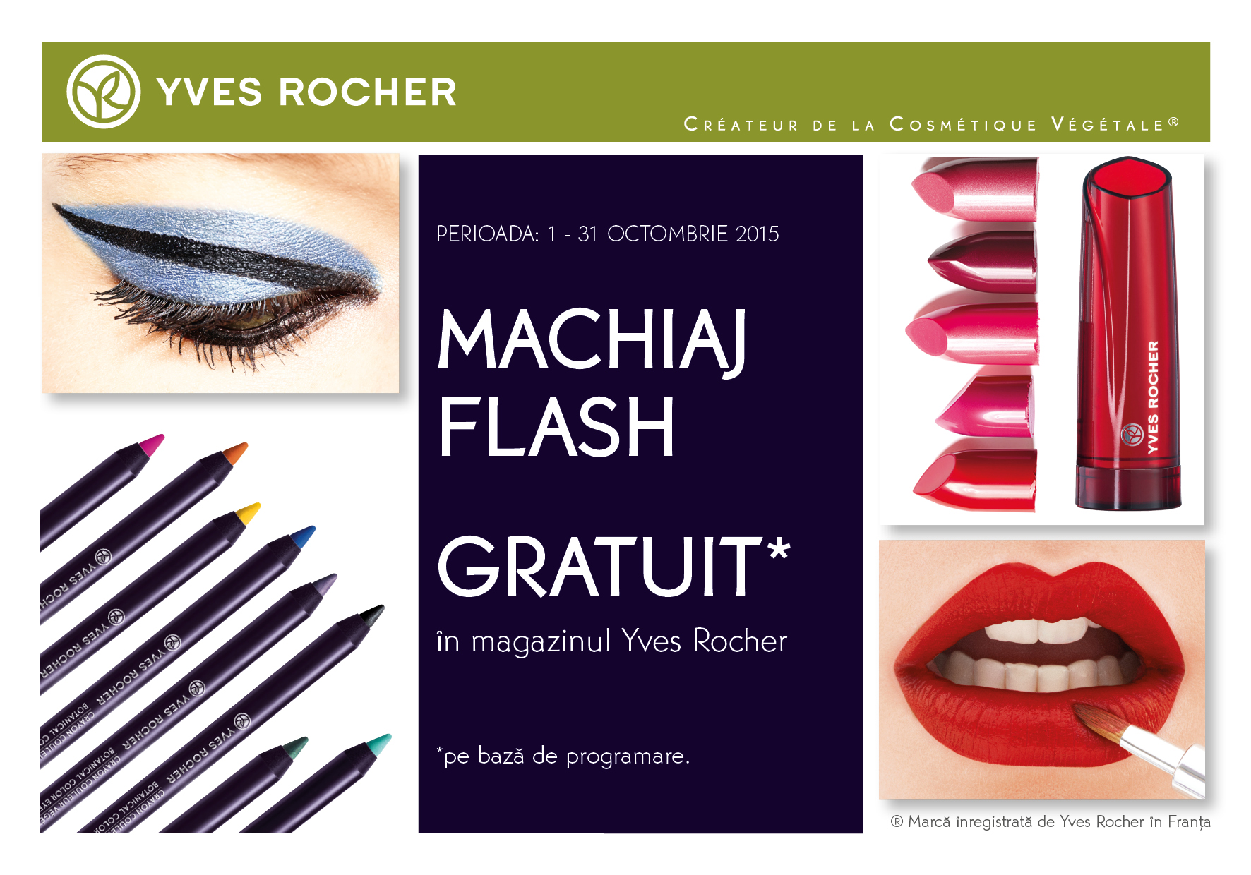 Machiaj Flash Yves Rocher Shopping City Targu Jiu