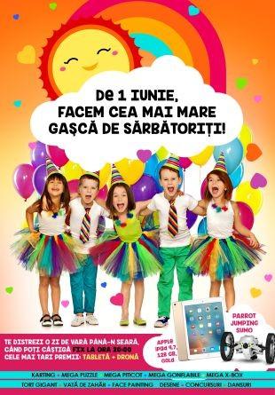 De Ziua Copilului ai program la Shopping City Târgu Jiu