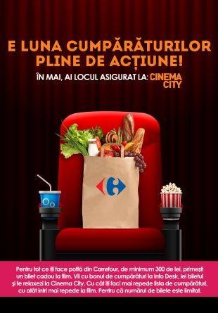Vii la cumpărături și pleci cu un bilet la cinema
