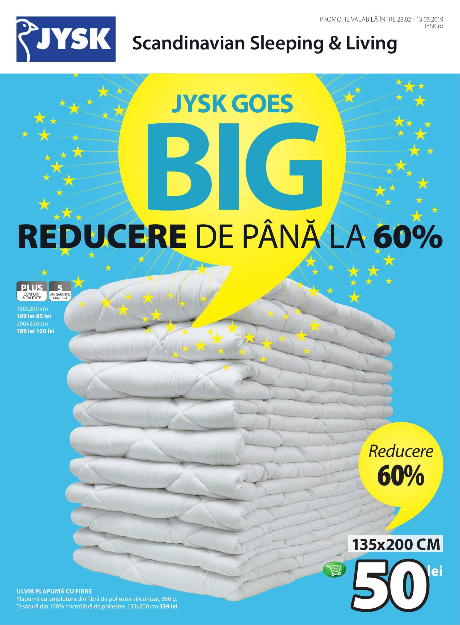 site de renume disponibilitate Marea Britanie 100% calitate JYSK Goes Big | Reduceri de până la 60% - Shopping City Targu Jiu